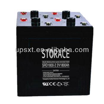 Maintenance Free Dry Battery 2v 1800ah deep cycle battery (SRD1800-2)