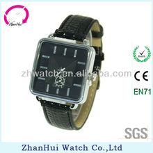 New fashion quartz leisure men's leather wrist watch