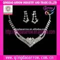 cristal de la moda de la boda árabe conjuntos de joyas