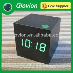 Hot Sale unique digital clock, wooden clock,LED table clock