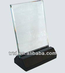 solid ABS LED light base with CE&UL&FCC adapter powered LED light bases for crystal display with 1cm~1.2cm thick acrylic sheet