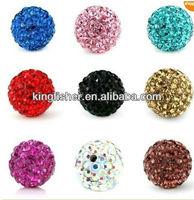 Mixed colors shamballa rhinestone beads!! High quality shamballa rhinestone crystal disco balls beads!! 8-18mm!! !!