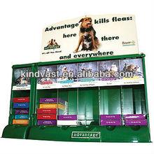 cardboard counter top display shelf for kill fleas medicine sale