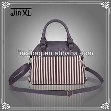 2013 latest design new arrival stripe canvas women's bag