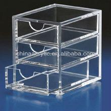 elegant clear 3 tiers acrylic drawer organizers