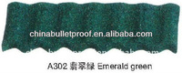 A302 Emerald green model stone coated steel roofing tile