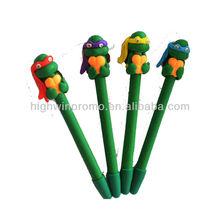 2013DIY Ninja Turtle-shaped Polymer Clay Pen