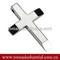 personalizado populares açoinoxidável cor prata pingente de cruz