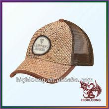 hot sell leisure custom nature bamboo with mesh fabric cap