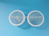 Plastic cosmetic powder jar packaging with sifter