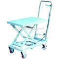 Aluminium Mobile manuel hydraulique Table élévatrice