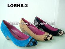 Fashion low heel evening shoes for women