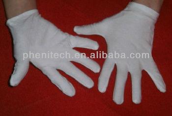 simple cotton hand job gloves white color
