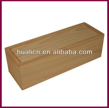 Sliding Lid Wooden Wine Bottle Packaging Box