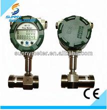 Lwgy de flujo de turbina totalizador / analógico medidor de flujo / medidor de