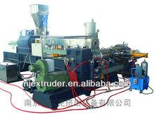 PE/EVA Carbon black masterbatch two stage compounding extrusion line granulator machine