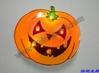 cool light up flashing led pumpkin badge for Halloween