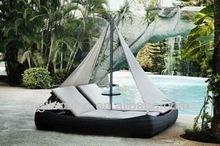 10193 Cheap Rattan Patio Sun Bed