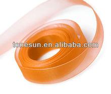 Tonesun Top-Ten Torrid Orange Silk Organza Ribbon for Decoration