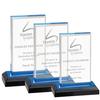 Optical glass classics crystal trophy award plaque