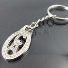 custom fashion metal diamond alphabet letters keychain (A C letter)