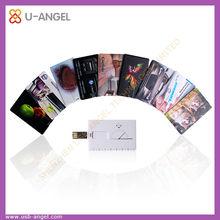 OEM mini usb memory stick 4gb credit card shape usb pen drive 2.0 usb card flash drive