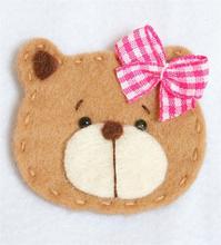 sew on felt applique bear arts