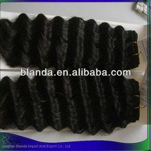Nice human hair extension natural virgin pervian hair exports