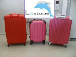 ABS 3 pcs set eminent aircraft airplane airport 2 zippers wheel waterproof plastic cute hard shell latest bag
