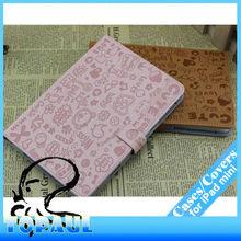 Book style Magic girl cartoon leather cover for ipad mini