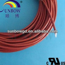 Red wire protection covering braided heat treated silica fiber sleeve