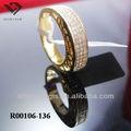медный сплав обручальное кольцо с цирконом камень