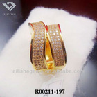 copper alloy gemstone ring fashion jewelry