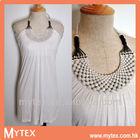 Ladie halter neck beads embellished long top