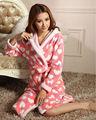 Das mulheres coral fleece térmica robe quimono japonês