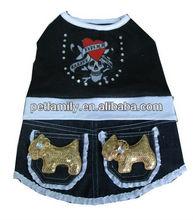 dog clothes dress black dog dress cotton dog dress pattern PF-0032
