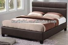 Queen bed black leather,platform bed full