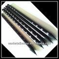 2013 hot sale personalizado preto lápis / lápis de madeira preto sem borracha / chumbo preto