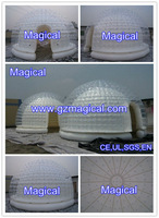air tight inflatable tent bubble/clear inflatable lawn tent for sale