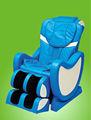 تماما تناسب جسم الإنسان خط متعرج التصميممن السهل الأزرق التدليك كرسي الرئاسة ، الجمع بين وظيفة قوية كرسي تدليك القدم