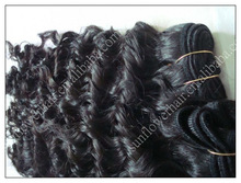 wholesale AAAAA Grade virgin Peruvian hair weft deep curl texture