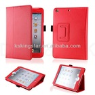 pu leather with pen holder case for ipad mini