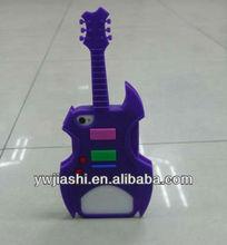 Silicone Guitar Cellphone Case,fashionable silicone mobile phone case