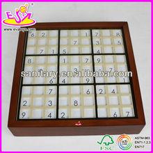 2015 New kids wooden brain toy,popular education children wooden brain toy,hot sale baby brain toy Wooden sudoku games W11A015