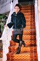 2013 nuevo estilo de visón azul abrigos de piel