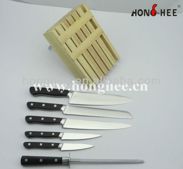 ABS Handle Kitchen Knife Storage Block