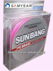 8 Strands Chinese Fishing Tackle Braided Fishing Line Pink ---SUNBANG