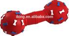 medium bone squeaky ball dog toys,plastic dog bone toy with dumbbell shape pvc vinyl toy