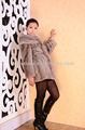el más reciente 2013 gris estilo abrigo de visón