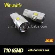 Super Bright T10 Wedge 6-SMD 5630 Car LED Lamp, Auto LED Bulb, Car LED Light Bulb